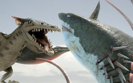 龍魚追鯊令 Sharktopus vs. Pteracuda